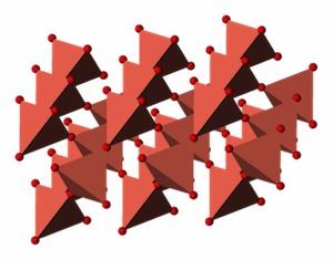 Particules d'oxyde de cuivre insérées dans le textile effet antibactérien